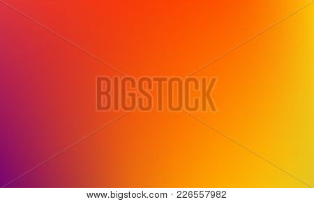 Abstract Blurred Gradient Background. Colorful Smooth Banner Template. Mesh Backdrop With Bright Col
