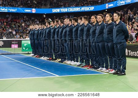 Line Umpire. Tennis Match Opening Ceremony