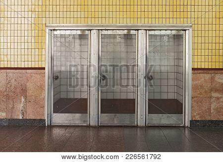 Three Doors In Subway Station Arsenalna, Kiev, Ukraine