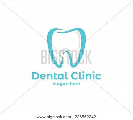 Vector Logo Design Illustration For Dental Clinic Healthcare, Dentist Practice, Tooth Treatment, Hea