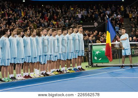Tennis Ball Boys And Girls During Opening Ceremony