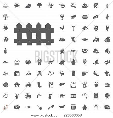 Agriculture And Farm Vector Icons Set