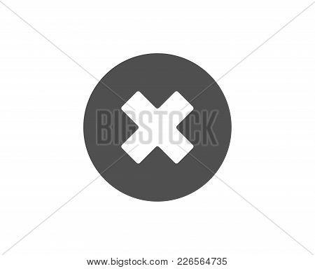 Delete Simple Icon. Remove Sign. Cancel Or Close Symbol. Quality Design Elements. Classic Style. Vec