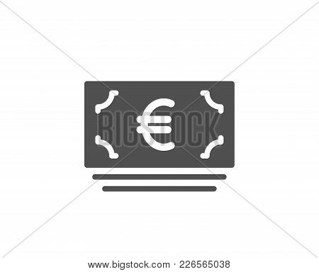 Cash Money Simple Icon. Banking Currency Sign. Euro Or Eur Symbol. Quality Design Elements. Classic
