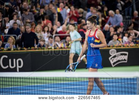 Professional Woman Tennis Player Winning A Match