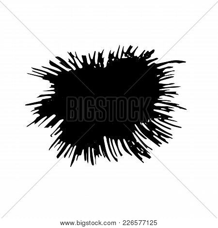 Ink Vector Dry Brush Strokes Texture. Vector Illustration. Grunge Hand Drawn Watercolor Background.
