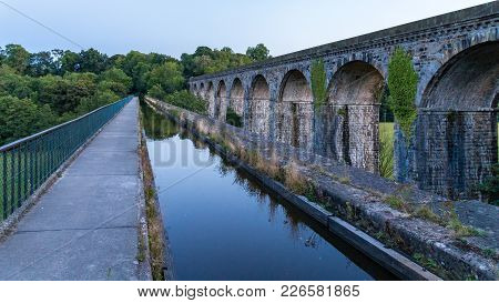 Evening At The Chirk Aqueduct & Viaduct, Wrexham, Wales, Uk