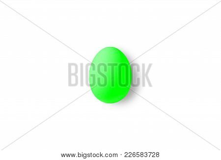 One Green Isolated Egg On A White Background