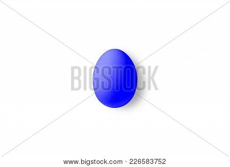 One Blue Isolated Egg On A White Background