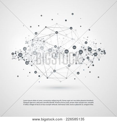 Minimal Style Cloud Computing, Networks Structure, Telecommunications Concept Design, Network Connec