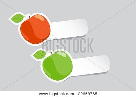 Vector illustration (close up ripe apples)