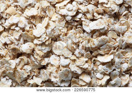 Macro Of Organic Oatmeal