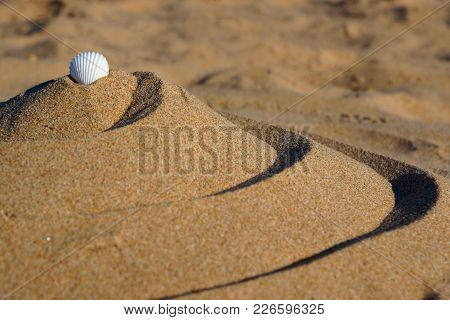 Spiral Pyramid Of Sand, Balance And Tranquility, Golden Section In Nature.
