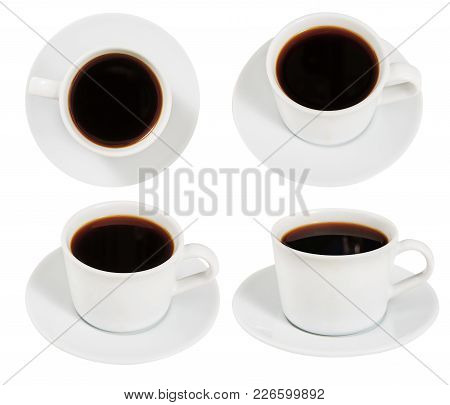 Coffee. Set. Cup. An Invigorating Drink. Breakfast. Morning.  For Your Design.
