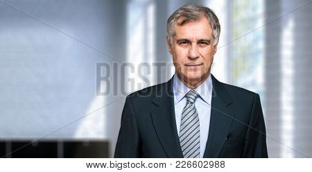 Closeup portrait of a confident mature business man