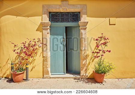 Old Authentic Green Doors In Nicosia, Cyprus
