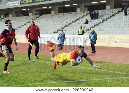 Rugby Players In Action