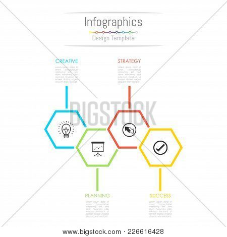 Infographic Design Elements For Your Business Data With 4 Options, Parts, Steps, Timelines Or Proces