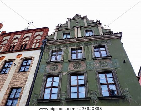 Poznan, Poland - December 02, 2017: Old Market Square Architecture With Colorful Buildings