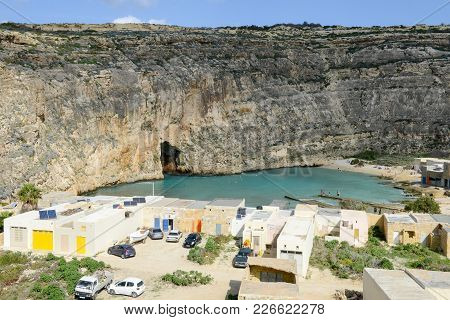 Inland Sea Of Gozo Island On Malta