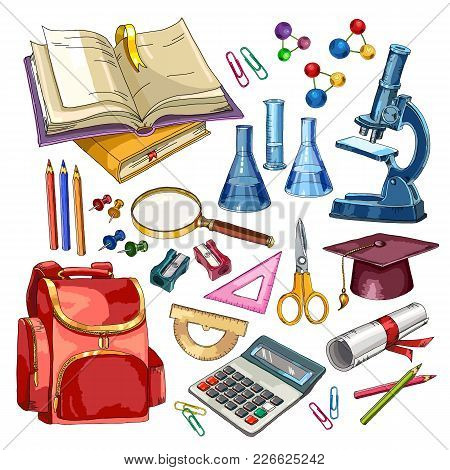 Education Collection. Education And Science Elements. Back To School Concept. Modern Education Eleme
