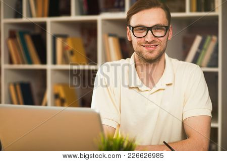 Young man with a laptop