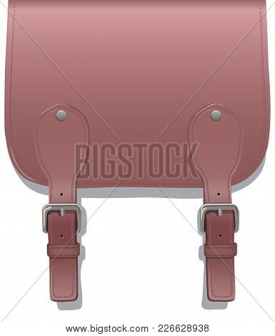 Leather Small Straps With Buckles On A White Background