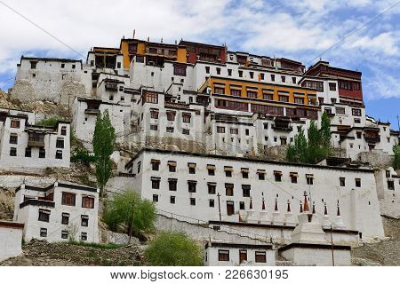 Thiksey The Largest Gompa Buddhist Monastery In Ladakh, India