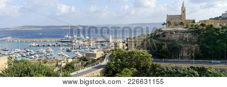 Port Of Mgarr On The Small Island Of Gozo - Malta