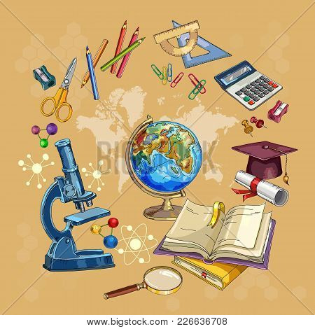 Open Book Of Knowledge. Symbol Of Science And Education. Education And Science. Back To School Conce