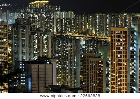 residential building in night