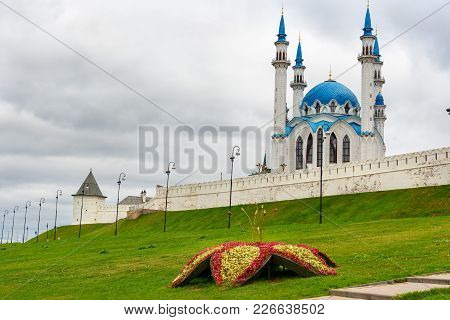 View Of Kazan Kremlin And Kul-sharif Mosque. Kazan. Russia