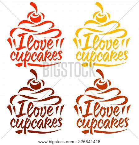 Cupcake Logo Template For Cafe, Bakery Technology