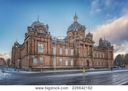 Former Govan Town Hall Built With Red Sandstone.