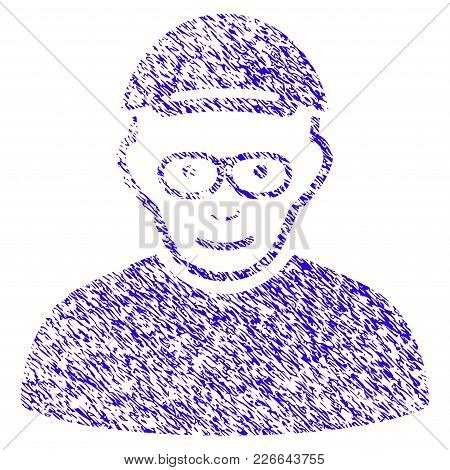 Grunge Pensioner Rubber Seal Stamp Watermark. Icon Symbol With Grunge Design And Scratched Texture.