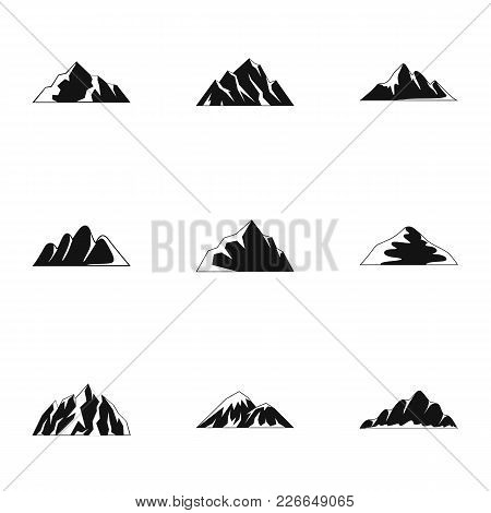 Upland Icons Set. Simple Set Of 9 Upland Vector Icons For Web Isolated On White Background