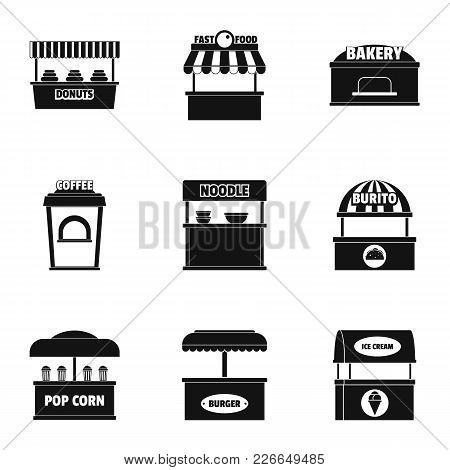 Kitchen Cupboard Icons Set. Simple Set Of 9 Kitchen Cupboard Vector Icons For Web Isolated On White