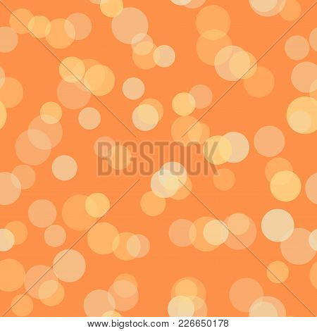 Seamless Pattern With Defocused Lights. Texture Pattern. Vector.