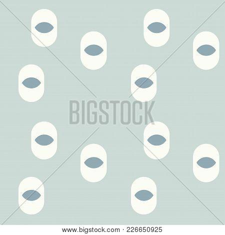 Eye Irregular Seamless Pattern. For Print, Fashion Design, Wrapping Wallpaper