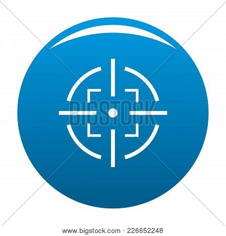 Goal Icon Vector Blue Circle Isolated On White Background
