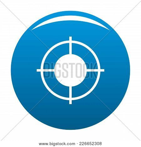 Far Target Icon Vector Blue Circle Isolated On White Background