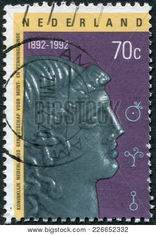 Netherlands - Circa 1992: A Stamp Printed In The Netherlands, Is Dedicated To The 100th Anniversary