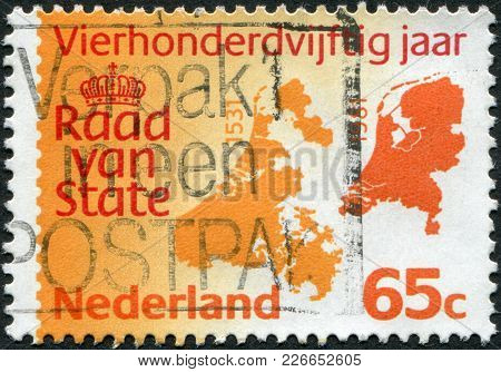 Netherlands - Circa 1981: A Stamp Printed In The Netherlands, Is Dedicated To The 450th Anniversary