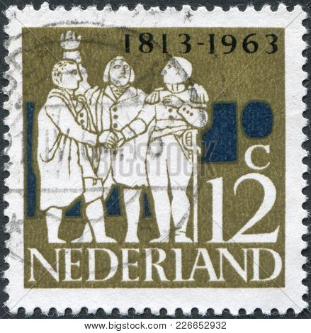 Netherlands - Circa 1963: A Stamp Printed In The Netherlands, Dedicated To The 150th Anniversary Of