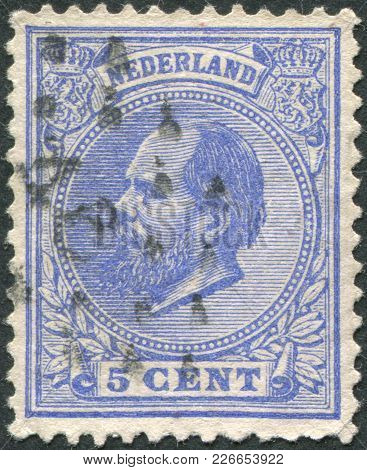 Netherlands - Circa 1872: A Stamp Printed In The Netherlands, Shows William Iii Of The Netherlands,