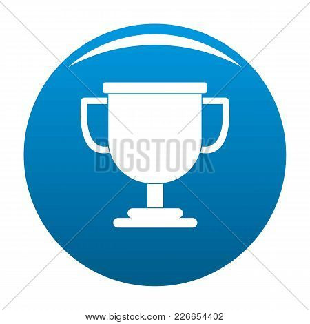 Cup Award Icon Vector Blue Circle Isolated On White Background