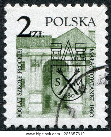 Poland - Circa 1980: A Stamp Printed In The Poland, Dedicated To The 800th Anniversary Of Malachowsk