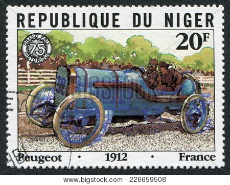 Republic Of Niger-circa 1981: Postage Stamps Printed In The Republic Of Niger, Dedicated To The 75 T