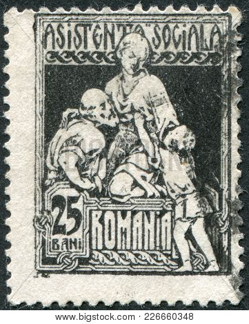 Romania - Circa 1921: A Stamp Printed In The Romania, Shows The Charity, Circa 1921