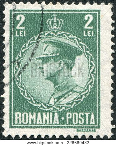 Romania - Circa 1930: A Stamp Printed In The Romania, Shows The King Of Romania, Carol Ii, Circa 193